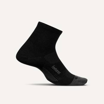 FEETURES MERINO 10 CUSHION QUARTER SOCKS BLACK